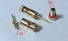 2pcs copper Speaker Cable Pin Connectors for 4mm Banana Plugs To Pin connector