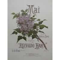 HAHN Reynaldo Mai Chant Piano 1893 partition sheet music score