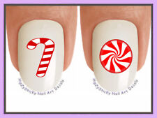 "Nail Decals #815X CHRISTMAS ""Holiday Candy Cane"" WaterSlide Nail Art Transfers"