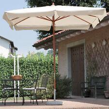 Ombrellone 2x3 mt palo centrale legno con camino Flap e carrucola per giardino