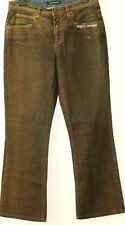 ANGELO MARANI~ WOMAN'S ANTIQUED STRAIGHT LEG JEANS ~ SIZE 10 ~ 44 ITALY NEW