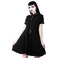 Killstar Gothic Goth Okkult Wiccan Skater Kleid Minikleid - Dark Doll Schwarz