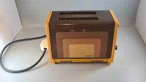 Vintage Retro Rowenta Toaster Brown Orange 1970s 1980s - Untested - Prop