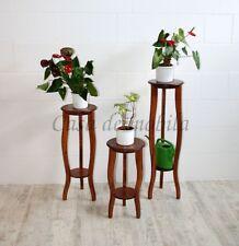 Massivholz Beistelltisch-Set kirsch farben Blumentische Blumenhocker Blumensäule