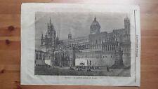 1873 Illustrazione Popolare: La Cattedrale di Palermo dedicata a S. Rosalia