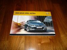 Opel Astra Prospekt 09/2012