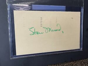 1950 Stan Musial HOF Autograph GPC PSA/DNA Auto Government Postcard Cardinals