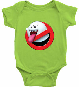 Baby Bodysuit Infant One Piece Shower Gift Funny Ghostbusters Mario Boo Ghost