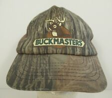 Buckmasters Hunting Camo Mesh Trucker Hat Made In Usa Snapback