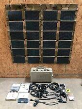 Iris Spaces Ii Portable Military Solar Panel Kit Flexible 2x 62W Panels Radio