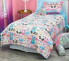 Justice Girls Comforter Set Twin Size - Dream Sweeter 5 Piece Bed in a Bag