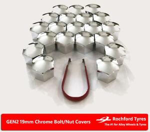 Chrome Wheel Bolt Nut Covers GEN2 19mm For Porsche Boxster [987] 04-12