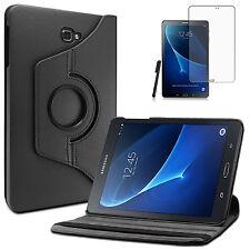 360°Rotation Samsung Galaxy Tab A 10.1 T580/T585 A6 Case +Pen+Folie Schwarz