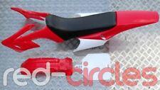 RED APOLLO STYLE PIT BIKE PLASTICS KIT WITH SEAT fits 140cc - 200cc PITBIKE