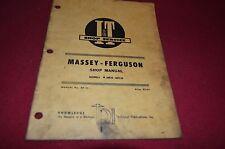 Massey Ferguson 25 130 Tractor I&T Shop Manual BVPA