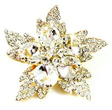 Wedding Flower Gold plated Ab Star Usa Brooch Swarovski Elmt Crystal Pin fashion