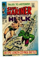 Tales to Astonish#100 1968 VF- 1st Series Namor decides to recruit the Hulk