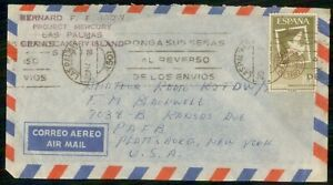Mayfairstamps SPAIN AD 1961 COVER LAS PALMAS PROJECT MERCURY wwi83701