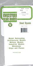 9010 Plain Sheet .010x6x12 (4) Styrene by Evergreen Scale Models EVG9010