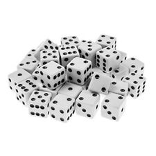 10pcs 16mm blank white can write dice counting cubes square gaming dice ODUS