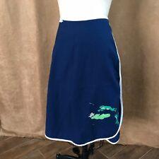 M / L Vintage de'Lanthe Painted frogs Wrap Circle Skirt womens large mid century