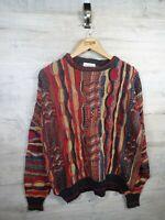 vtg Coogi Cosby Style  ALFANT Italian sweatshirt sweater jumper refA21 Medium