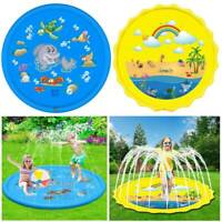 Large 170CM Kids Inflatable Splash Water Pad Sprinkler Spray Water Play Mat