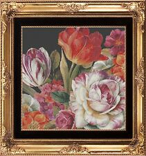 VIBRANT STILL LIFE FLORAL~DELICA BEAD PEYOTE PATTERN ONLY