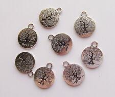 8pz charms ciondoli albero della vita colore tibetano 19x15mm bijoux