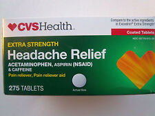 EXTRA STRENGTH HEADACHE RELIEF CVSHealth 275Tablets compare to Excedrin ES 11/17