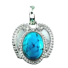 Blue Howlite Pendant with chain 9 carats  natural
