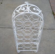 Beautiful Vintage 20 Bottle Wrought Iron Wine Rack With Cast Iron Accents