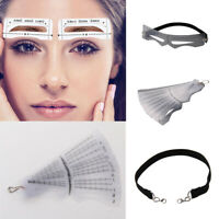 12pcs Eyebrow Shaping Stencil Template Brow Grooming Makeup Shaper Tool Kit