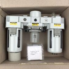 PneumaticPlus SAU4000M-N04G Three-Unit Combo Compressed Air Filter Regulator