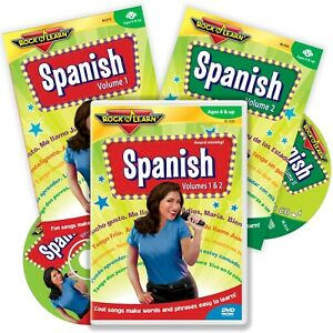Spanish DVD and Audio CD Set by Rock N Learn