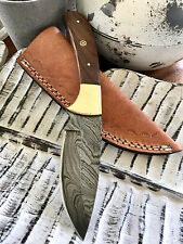 Damascus Hunting Knife Hand Made Fishing Skinning Pig Tactical Camping OZF0006