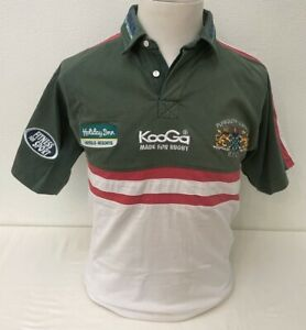 Rare Vintage Kooga Plymouth Albion Rugby Green Mix Rugby Shirt - Medium