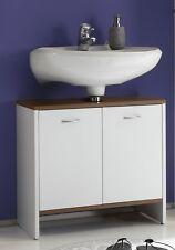 Waschbeckenunterschrank Viola Badezimmerschrank Weiß Natur Bad Unterschrank