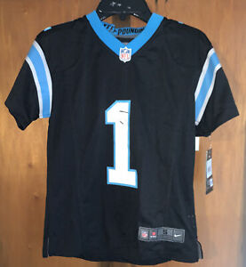 NWT Nike NFL Carolina Panthers Cam Newton Jersey Sz Youth Small/ See Description