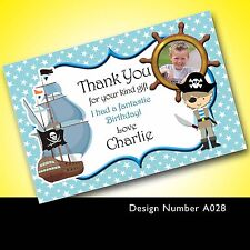 Personalised Birthday Party Thank You Cards Pirate A0028 - Add a Photo