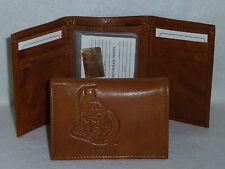 OTTAWA SENATORS   Leather TriFold Wallet   NEW   brown3