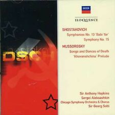 Shostakovich / Musso - Shostakovich: Sym Nos 13 & 15 / Mussorgsky: Songs [New CD