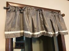 Jcp Home Expressions Rod Pocket Pleated Valance 54 W x 15 L Silverish Taupe