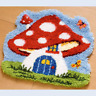 Toadstool fairy house Latch Hook Rug Kit - Rug Making - Everything included