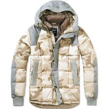 Cappotti e giacche da uomo stile parka con cappuccio in lana
