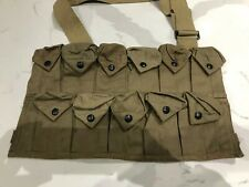 Vintage Military Ammunition Ammo Bag Utility MultiPockets With Strap Clean