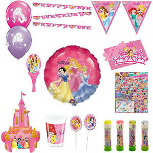 DISNEY PRINCESS  PARTY DECORATIONS RANGE TABLEWARE,BALLOONS,CUPS,PLATES,BANNER