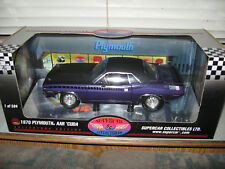 1 18 Highway 61 1970 Plymouth Aar Cuda Inviolet Mopar Nats Poursuite Supercar