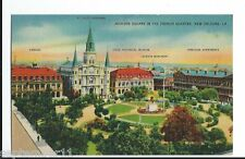 Postcard Jackson Square In The French Quarter, New Orleans, LA. 1930-40's