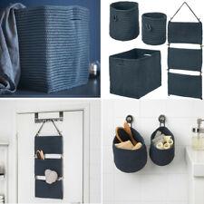 IKEA Blue NORDRANA Basket & Hanging Storage Organizer Handmade Folding Accessory
